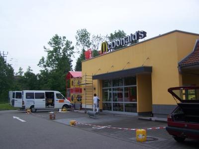 Sanierung Mc Donalds Fassade 1