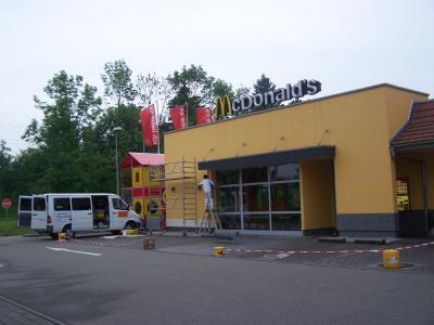 Sanierung Mc Donalds Fassade 3
